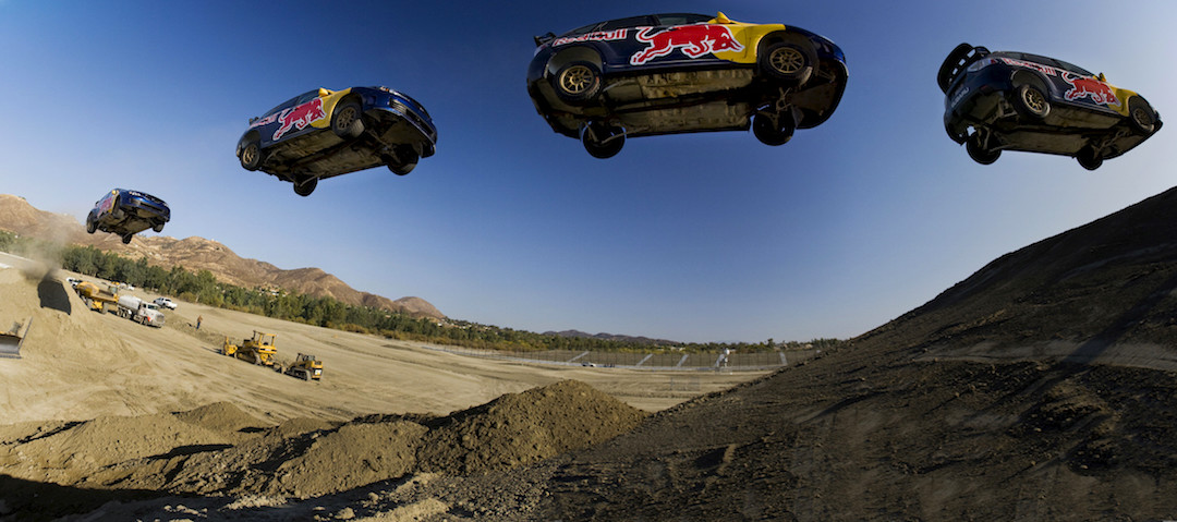 Red Bull athlete Travis Pastrana prepares for New Year No Limits 2010, where he will attempt to break the world record for the longest distance jump in an automobile.